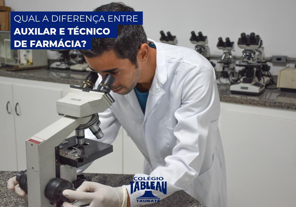Qual a diferença entre auxiliar e técnico em farmácia?